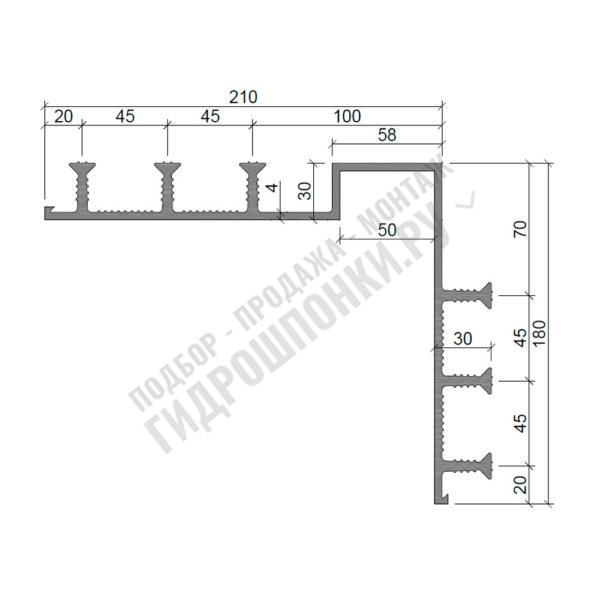 Гидрошпонка-Аквастоп-ДО-УГЛ-21050-630-ПВХ