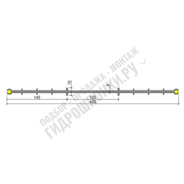 Гидрошпонка-Аквастоп-ХВИ-400-(2х8)-ПВХ