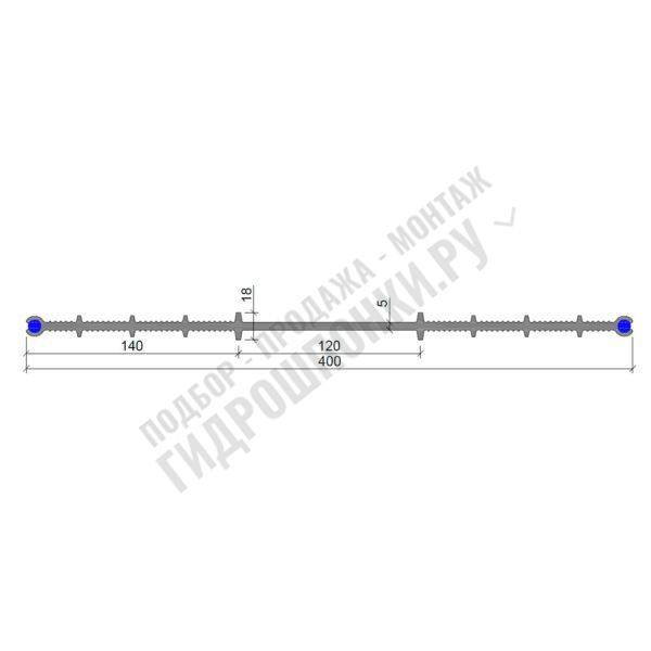 Гидрошпонка-Аквастоп-ХВН-400-(2х8)