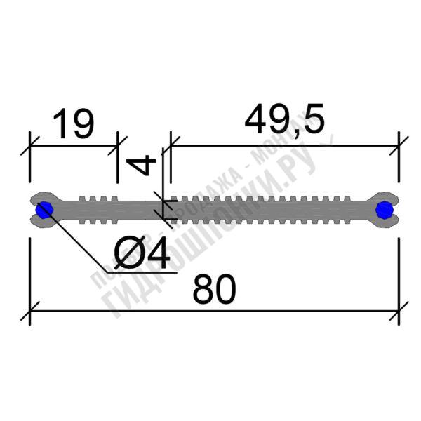 Гидрошпонка-Аквастоп-ХВН-80-(2х4)-ПВХ