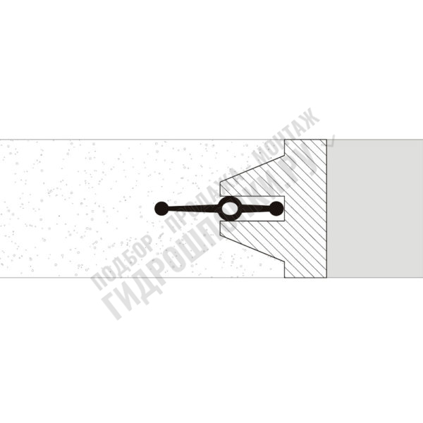 Гидрошпонка-Аквастоп-СВГ-120-ПВХ